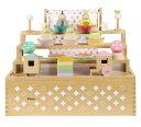 【11月上旬入荷予定】プーカのひなにんぎょう ハコ 雛人形 ミニ ひな人形 3段飾り 木製三段5人飾り 雛祭 ひなまつり お雛様 お内裏様