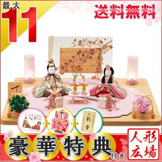 受歡迎的偶人雛娃娃木紋包含一秀平裝飾櫻花櫻花金彩仕様(雛/木紋包含玩偶裝飾/平裝飾/高手/絶品裝飾/娃娃節/娃娃節/娃娃節/女兒節/女兒節)