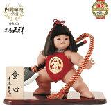 五月人形 ケース飾り 子供大将飾り 兜 兜飾り 武者人形 ケース 5月人形 金太郎人形 童心10号 (ガラスケース入り まさかり付)