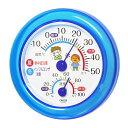 クレセル CRECER 温度計 湿度計 青 小さい コンパクト インフルエンザ予防 熱中症予防 壁掛用 卓上用 ブルー 丸い リビング キッチン 書斎 寝室 子供部屋 見やすい 日本製 インフルエンザ 熱中症対策 温湿度計 TR-103B