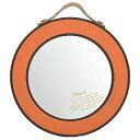 ミラー 鏡 壁掛け インテリア シック おしゃれ かわいい プレゼント 日本製クラスミラーS/オレンジ