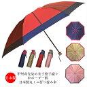 折り畳み傘 雨傘 丸ミニ 日本製 8本骨 甲州産先染め朱子格子生地使用・中ボーダー柄日本製丸ミニ折り畳み雨傘