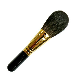 熊野筆 化粧筆 メイクブラシ パウダーブラシ(灰リス)[フェイスブラシ][熊野化粧筆][熊野ブラシ][熊野メイクブラシ][KUMANO brush]【優れものA】