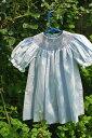 ドレスベビードレススモッキングドレス刺しゅうスモッキングドレスビショップ90ブルー選んで!!無料ギフトラッピング