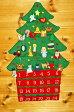 クリスマス布絵本布のアドベント カレンダー 壁掛け クリスマスツリーボタンかけオーナメント24個付きメリークリスマス知育選んで!! 無料ギフトラッピング
