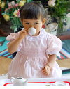 ドレスベビードレススモッキングドレス刺しゅうスモッキングドレスロザーナピナフォー90選んで!!無料ギフトラッピング