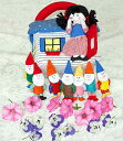 布絵本布人形布のプレイハウス白雪姫と7人の小人世界の童話人形...