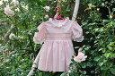 ドレスベビードレススモッキングドレス刺しゅうスモッキングドレスレオノール ピンク 90ブルマ付き選んで!!無料ギフトラッピング