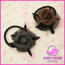 All lattice pattern Rose corsage hair rubber ♪★ two colors [corsage] [hair rubber] [possible an email service] [comfortable tomorrow Lady's point %】【 to double] [YDKG-td] [spr05P05Apr13]