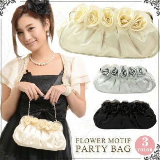 Limited time sale! Super large bag satin organza with Kosa - Jeu party bag 3 colors L45 back Soiree