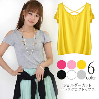 Girly cute ★ adult パワショルダー Short Sleeve Tops ♪ ☆ 78% off