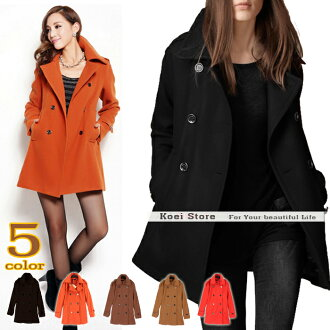 Wear and outstanding turning silhouette ★ corduroy peacoat! A line beauty silhouette winter P coat coat standard color Corderoy jacket fur coat quilted coat back BOA