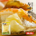 国産黄金生姜使用 寿司ガリ 60g×10   『 生姜 国産 』【しょうが/甘酢/がり/スライス/無着色】