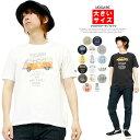 VOLKSWAGEN(フォルクスワーゲン) Tシャツ メンズ 大きいサイズ 半袖 プリント クルーネック カットソー 半袖Tシャツ 綿 おもしろ バス 車 サマー サーフィン キャラクター ビートル