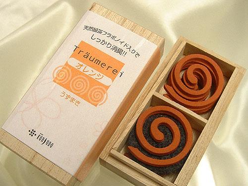【フラボノイドで消臭 薫寿堂のお香】トロイメライ オレンジ コイル