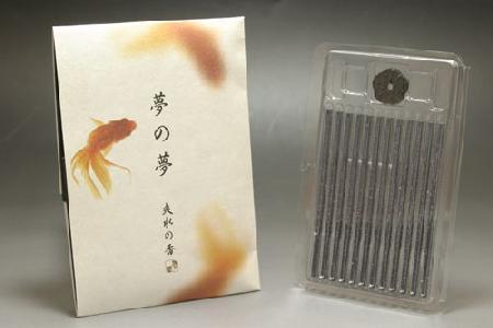 日本香堂のお香 夢の夢 爽水(さわみず)のお香 スティック型12本入