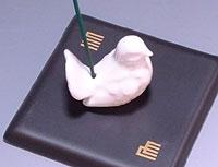 【懐かしい香立て】ボンチャイナ鳩