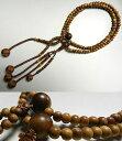 [全品P10倍&お香プレゼント中] 男性用のお数珠 インド白檀 二双半法華 共仕立て日蓮宗