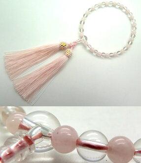婦女的水晶珠 7 毫米球玫瑰石英 Combi 風格 10P03Dec16