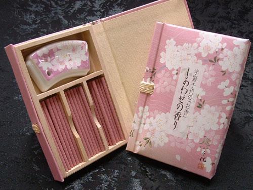 日本香堂のお香 宇野千代 しあわせの香り 文庫型...の商品画像