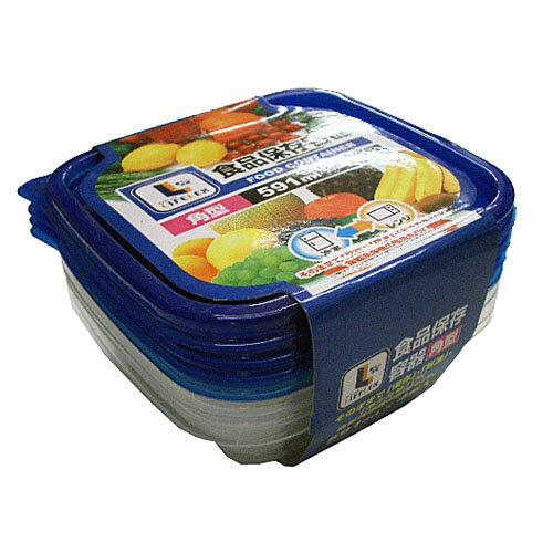 コーナン オリジナル 食品保存容器 角型 591ml×4個入【ラッキーシール対応】