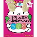 和光堂 赤ちゃんのおやつ+Ca カルシウム ほうれん草と小松菜せんべい 20g(2枚×6袋)【ラッキーシール対応】