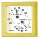 温湿度計 ミニサイズ イエロー 1006-30 卓上・壁掛兼用 気温 湿度 温度 測定 オフィス シンプル【05P05Dec15】