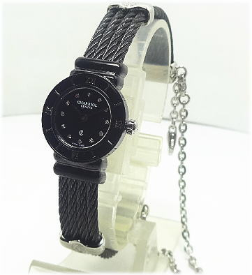 【対応】CHARRIOL (シャリオール) 腕時計 St.TROPEZ(サントロペ)ブラックミニ20B.525.005