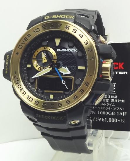【対応】カシオ G-SHOCK 電波・ソーラーガルフマスター  ブラック ゴールド GWN-1000GB-1AJF 【送料無料】【ラッピング無料】カシオ 腕時計 シンプル