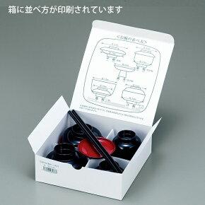 並べ方シート付仏膳黒(内朱)5.0寸