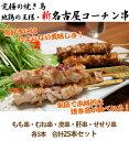 【送料無料】新・名古屋コーチン焼き鳥セット★もも串、むね串、せせり串、肝串、皮串