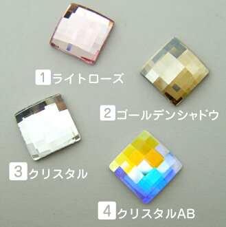 Square Swarovski # 2493-Chessboard Flat Back 8 x 8 mm bigs tone Swarovski special cut