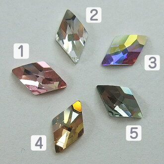 Diamond Swarovski #2709 Rhombus Flat Back 10 x 6 mm nail part Swarovski bigs tone special cut