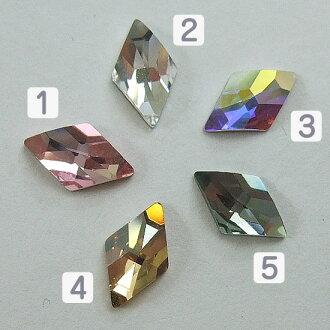 Diamond Swarovski #2709 Rhombus Flat Back 10 x 6 mm nail part Swarovski bigs tone special cut