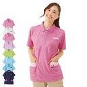 PL00043 カラフルアニマルサイドポケットポロシャツ【看護 介護 病院 保育士 ケア ヘ