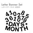 記念日撮影セット【月齢&100日フォト 日本製 よりひも付】フェルト レターバナー 月
