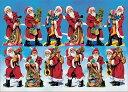 ドイツ製クリスマスポストカードサンタ12人