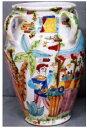 傘立 花瓶【イタリア製 ラムーザ】アンブレラスタンド 陶器かさ立て フラワーアレンジ(カラフルガーデン) 10P27May16
