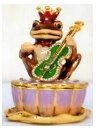 ショッピング置物 フロッグジュエリーBoX 置物 カエル 蛙 (スワロフスキークリスタル使用)