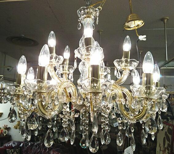 高級シャンデリア|15灯|イタリア製|インテリア|店舗什器|リビング