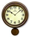 さんてる 電波振り子時計 電波時計 DQL669ステップ秒針 時計 電波時計 丸い 壁掛け時計 丸形 レトロ クラシック 職人の手作り 壁時計 ウォールクロック おしゃれ ヨーロピアン お洒落【新生活】