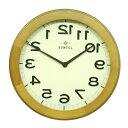 さんてる 木製逆転時計 QL889LBR QL889BR 変わった壁時計 壁掛け時計 壁掛時計 文字が逆 数字が逆さま 逆回り 反時計回り 国産 ウォールクロック レトロ アンティーク 面白い時計 職人の手作り 天然木 日本製の時計 分厚い 重厚感