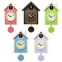 さんてる 鳩時計 アンティーク 北欧カラー ダークブラウン SQ03 SQ04 壁時計 可愛い 壁掛け時計 国産 日本製 ウォールクロック 天然木..