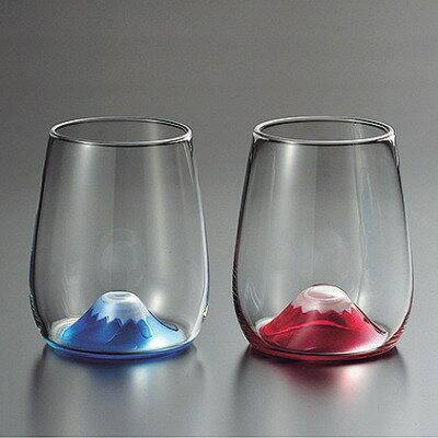 グラスペア底富士山タイプ富士山グラスペアセットガラス製食器洋食器コップカップ富士山グラス赤富士青富士