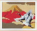 【スキルホビーコレクション】スキルミニギャラリー(額付) MG215 赤富士と鶴 【取寄せ品】 【C3-7】