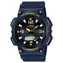 カシオ CASIO アナログ×デジタル ソーラー 腕時計 AQS810W-2A ブラック×ネイビー【楽ギフ_包装】