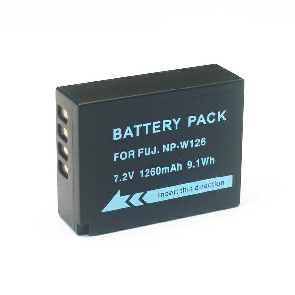 富士フィルム用(FUJIFILM用) デジタルカメラ用 NP-W126互換バッテリー【メール便送料無料】