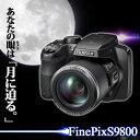 FUJIFILM 富士フイルム 光学50倍 ロングズームデジタルカメラ FinePix S9800 (sb)【送料無料】 ブラック【あす楽対応】