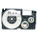 カシオ用 ネームランド 互換 テープカートリッジ XR-24WE ラベル【メール便可】 24mm/白テープ/黒文字
