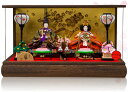 雛人形 ケース ひな人形 雛人形 ケース飾り お雛様 ミニ 「花萌(はなもえ)」2017年雛人形 ●ケース入り 親王飾り コンパクト